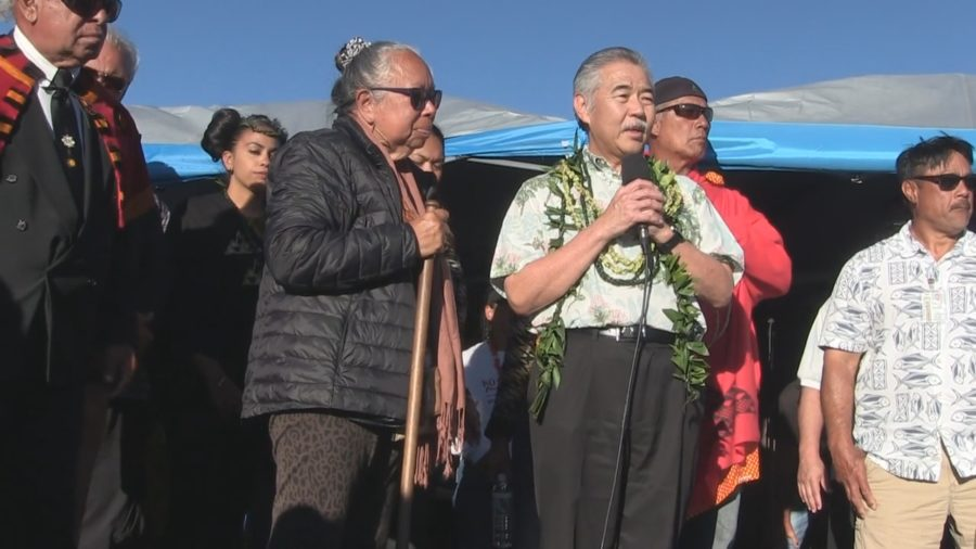 Governor David Ige Visits Mauna Kea Encampment