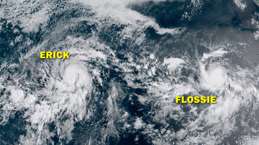 Erick Nears Hurricane Strength, Tropical Storm Flossie Follows