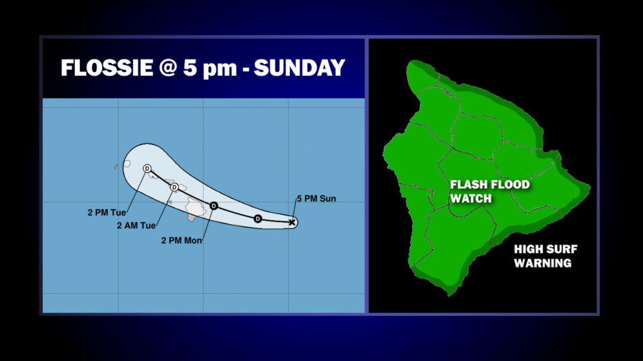 Flossie Now A Tropical Depression, Flash Flood Watch For Hawaii