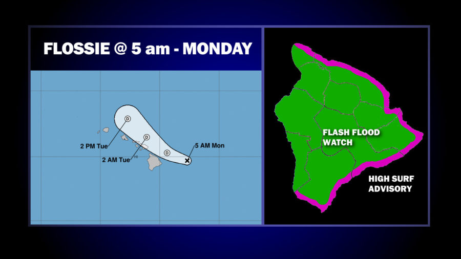Tropical Depression Flossie To Pass Just North Of Hawaii Island