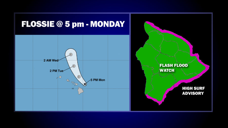 Flossie Degenerates Into Remnant Low Northeast Of Hawaii