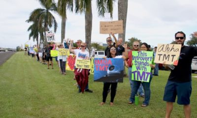 VIDEO: TMT Supporters Sign Wave In Hilo