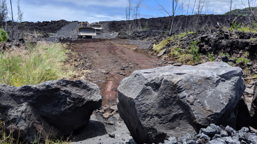 As Bulldozers Punch Through Lava, Heat Threatens Project Deadline