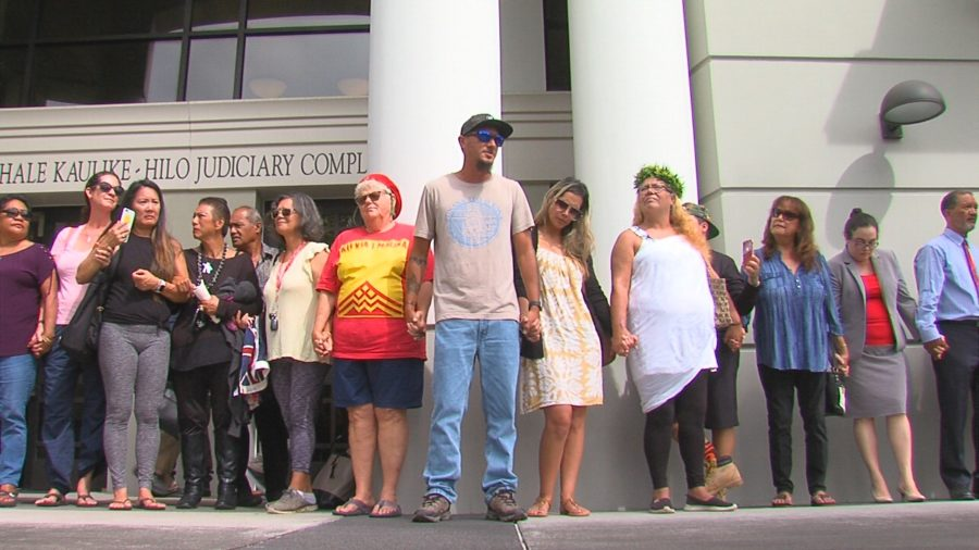 VIDEO: Nine Arrested On Mauna Kea Appear In Court