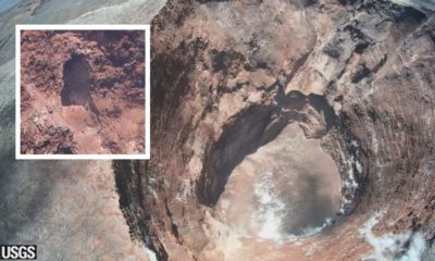 Puʻu ʻOʻo Overflight Reveals Hole In Crater Wall