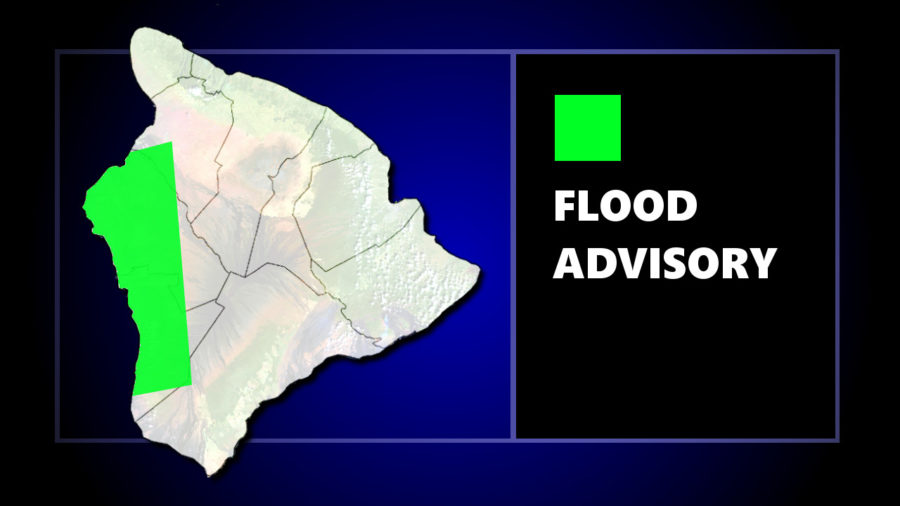 Flood Advisory In Effect For Kona Tuesday Evening