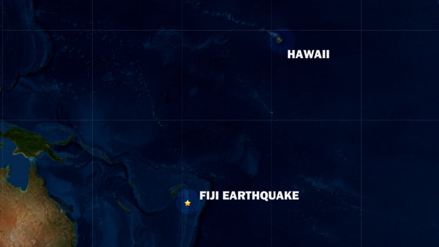 No Tsunami Threat After 6.7 Earthquake Near Fiji