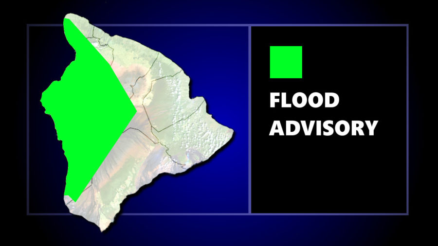 Flood Advisory In Effect For West Hawaii