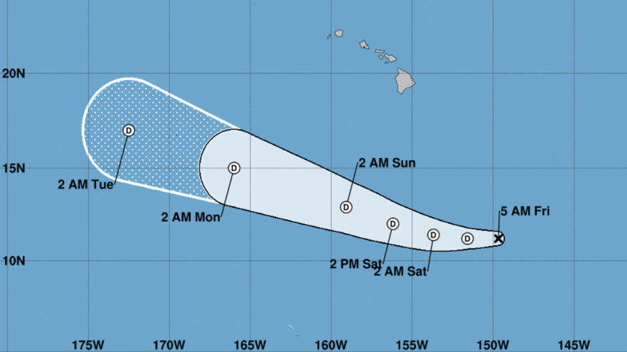 Tropical Storm Akoni Fizzles Out Far South Of Hawaii