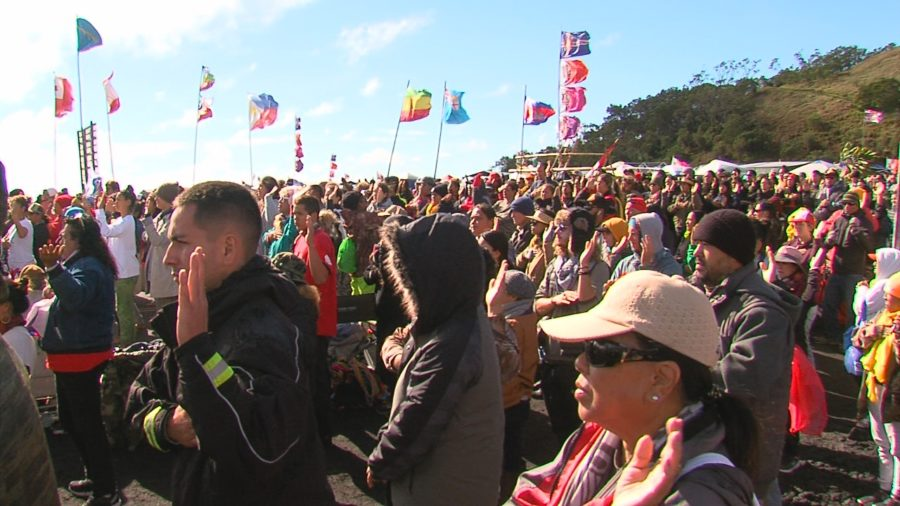 VIDEO: Crowd Gathers On Mauna Kea After Tense Night