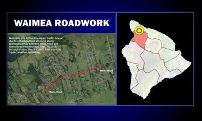 Ongoing Waimea Roadwork Scheduled Through Mid-December