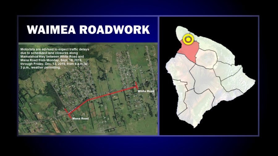 Ongoing Waimea Roadwork Scheduled Through Mid-December