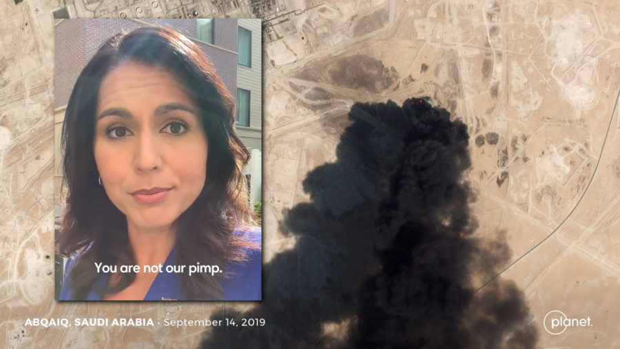 "Gabbard To Trump On Saudi Oil Attack: ""You Are Not Our Pimp"""