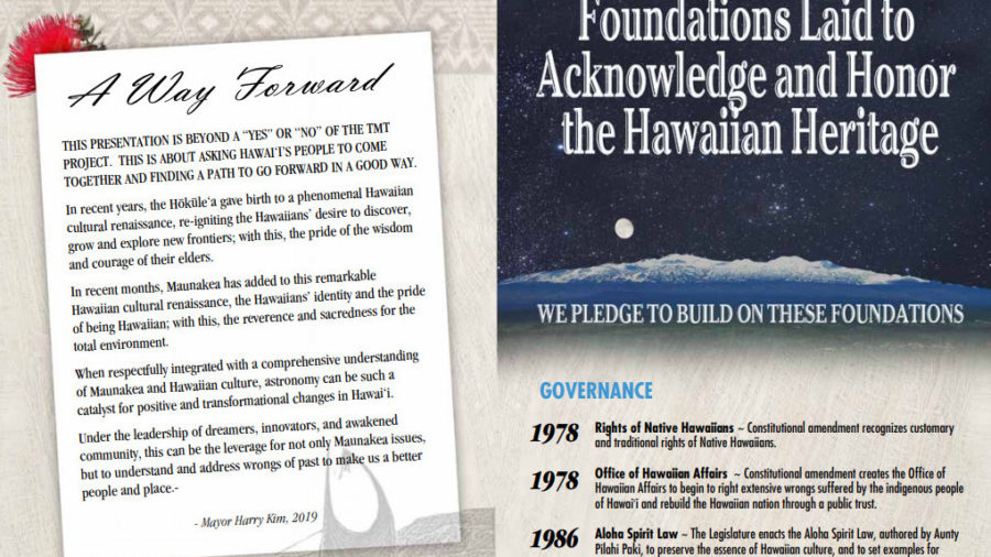 Mayor Kim's Way Forward On Mauna Kea Finished, Released