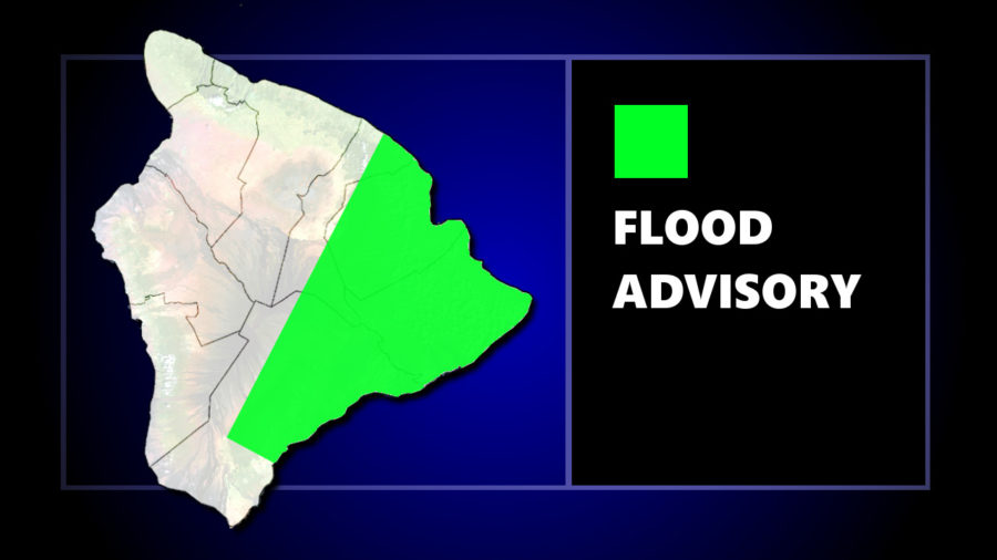 Flood Advisory Issued For Hilo, Puna, and Kaʻū