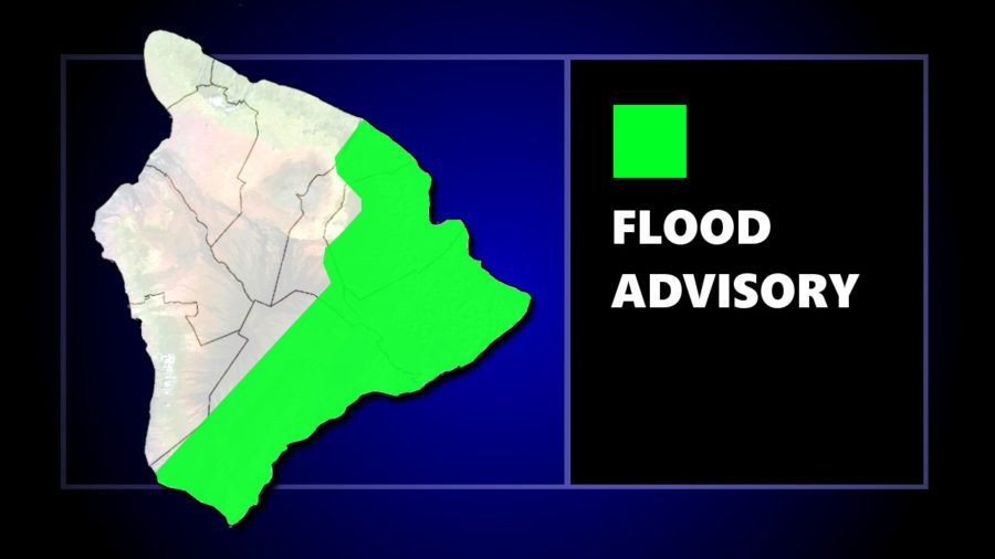 Flood Advisory Remains In Place For East Hawaii