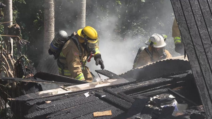 VIDEO: Firefighters Fight Kou Lane Fire In Hilo