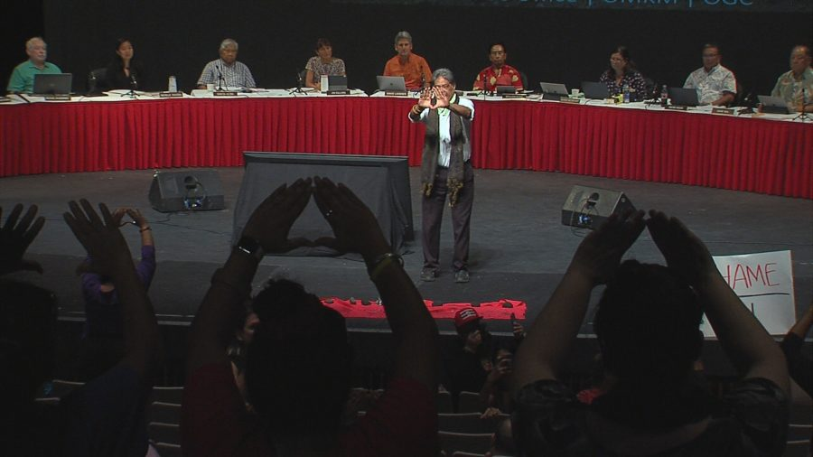 VIDEO: Kahu Crabbe Leads Powerful Showing At UH Regents Mauna Kea Meeting