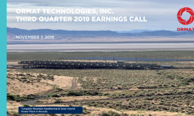 Ormat Gives Puna Geothermal Update In Latest Earnings Call