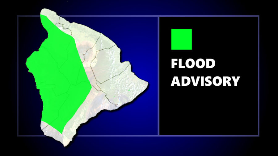 Flood Advisory Issued For Kona Side Of Hawaii Island
