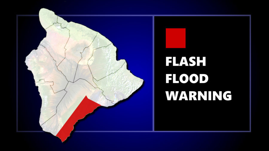 Flash Flood Warning In Kaʻu, Highway 11 Closed