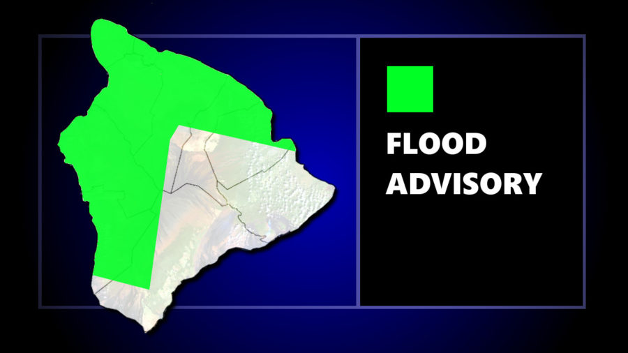 Flood Advisory Issued For Large Area On Hawaii Island