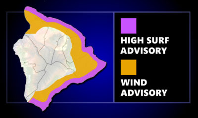 High Surf, Wind Advisory For Hawaii Island