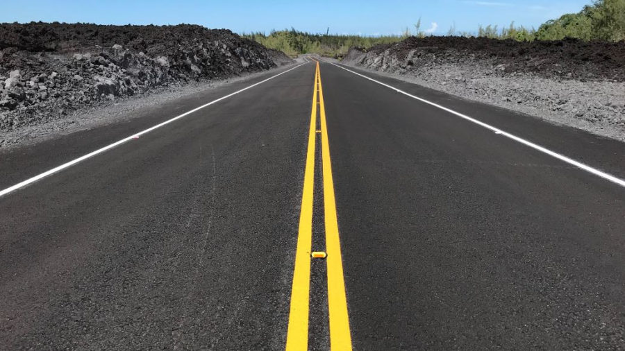 New Highway 132, Built Over 2018 Lava, Opens Wednesday