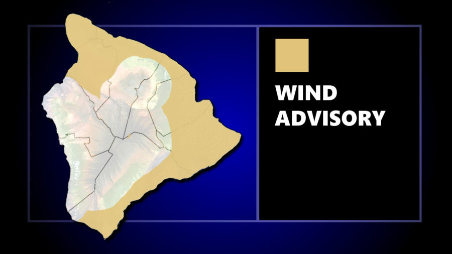 Wind Advisory Issued For Areas Of Hawaii Island
