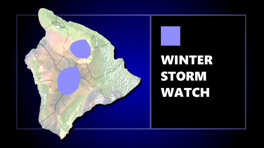 Hawaii Summits Under Winter Storm Watch Thursday