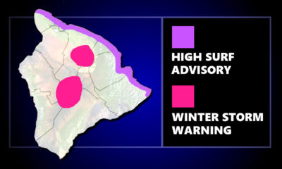 Winter Storm Warning, High Surf Advisory Posted