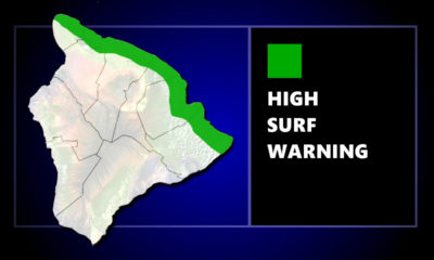 High Surf Warning For Hawaii Island Shores