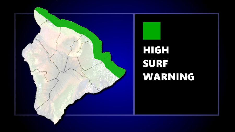 High Surf Warning For Hawaii Island Shores