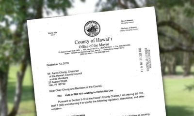 Mayor Kim Vetoes County Herbicide Bill 101