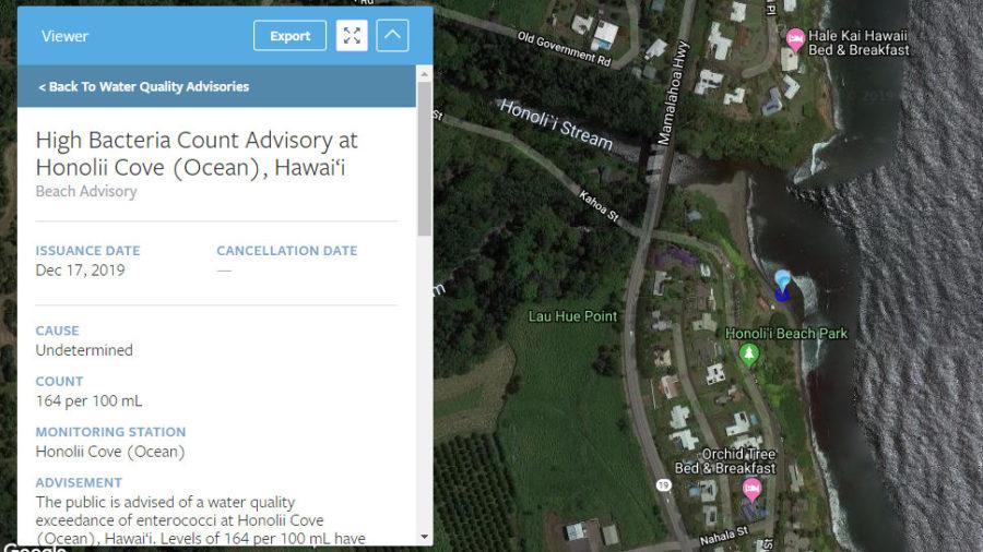 High Bacteria Count Recorded At Honoliʻi