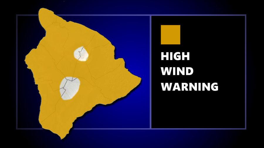 High Wind Warning Issued For Hawaiʻi Island
