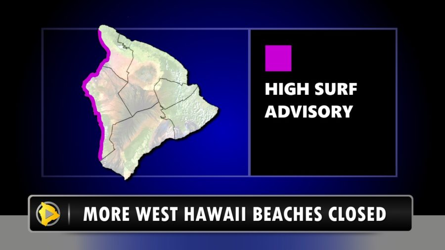 Several West Hawaii Beaches Closed As High Surf Continues