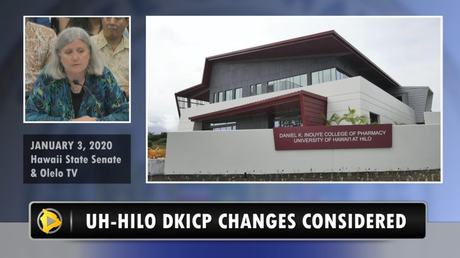 VIDEO: UH-Hilo Pharmacy College Changes Considered
