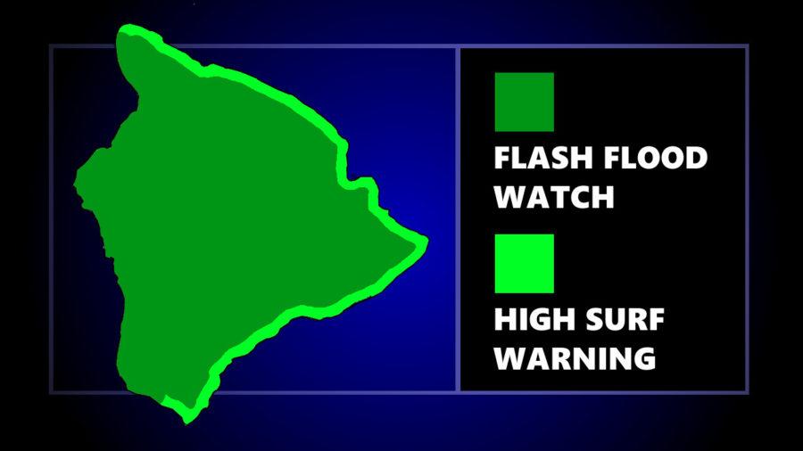 High Surf Closes Moku Ola, Flood Watch In Effect