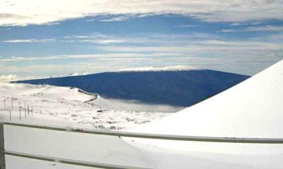 Deep Snow Covers Maunakea, Mauna Loa