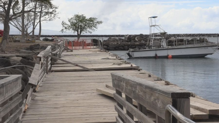 VIDEO: Kawaihae Small Boat Harbor Wharf Condemned After Storm Damage