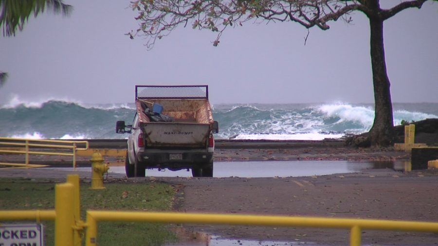 VIDEO: High Surf Keeps Some East Hawaii Beach Parks Closed