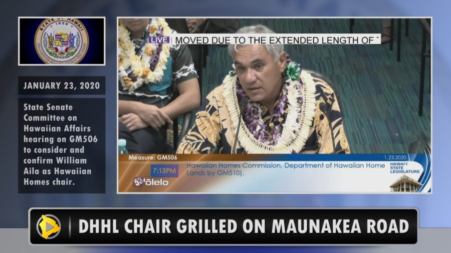 VIDEO: DHHL Chair Aila Grilled On Mauna Kea Access Road
