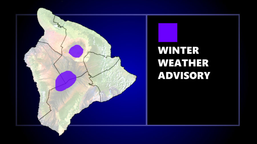 Winter Weather Advisory For Maunakea, Mauna Loa Summits