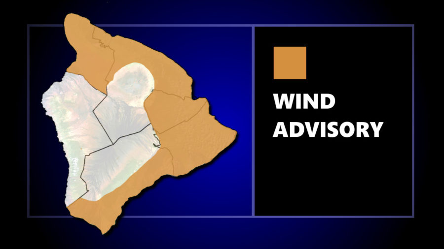 Wind Advisory For Hawaii, 50 mph Gusts Possible