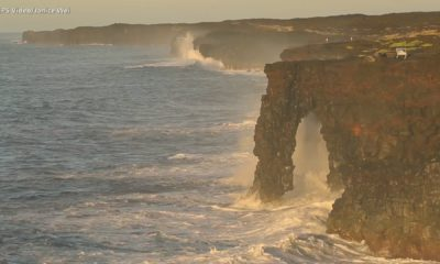 VIDEO: Update On Unstable Holei Sea Arch In Hawaii Volcanoes National Park