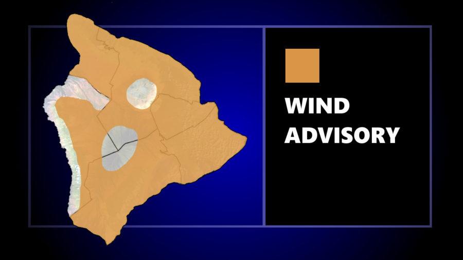 Wind Advisory In Effect For Much Of Hawaiʻi Island