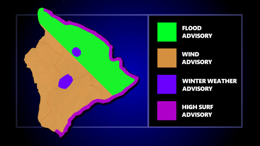 Flood Advisory Issued For North Hawaii