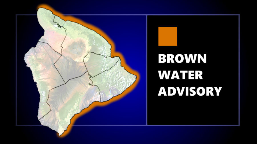 Brown Water Advisory Issued For Entire East Hawaii Shore