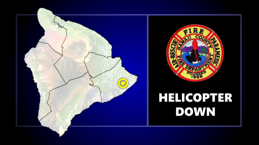 Tour Helicopter Goes Down In Puna, Minor Injuries
